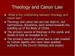 theology and canon law