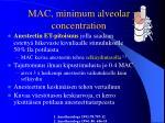 mac minimum alveolar concentration