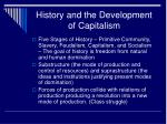 history and the development of capitalism