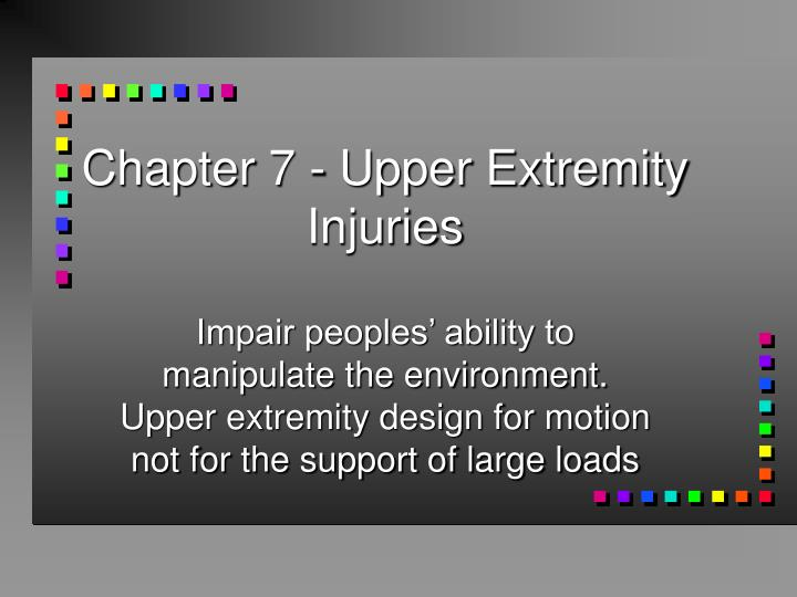 chapter 7 upper extremity injuries n.