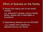 effect of sickness on the family1