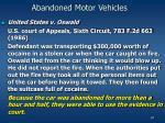 abandoned motor vehicles