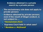 evidence obtained in a private search by a private person1