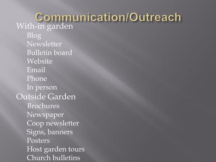 Communication/Outreach