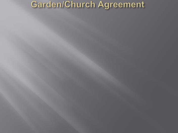 Garden/Church Agreement