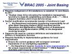 brac 2005 joint basing