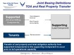 joint basing definitions toa and real property transfer