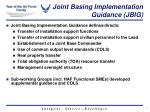 joint basing implementation guidance jbig1