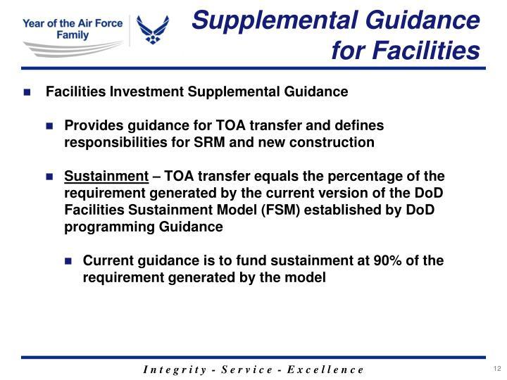 Supplemental Guidance