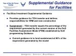 supplemental guidance for facilities