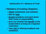 dysfunction 1 absence of trust2