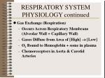 respiratory system physiology continued2