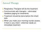 aerosol therapy
