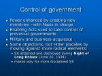 control of government