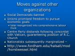moves against other organizations