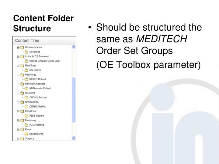 Content Folder Structure