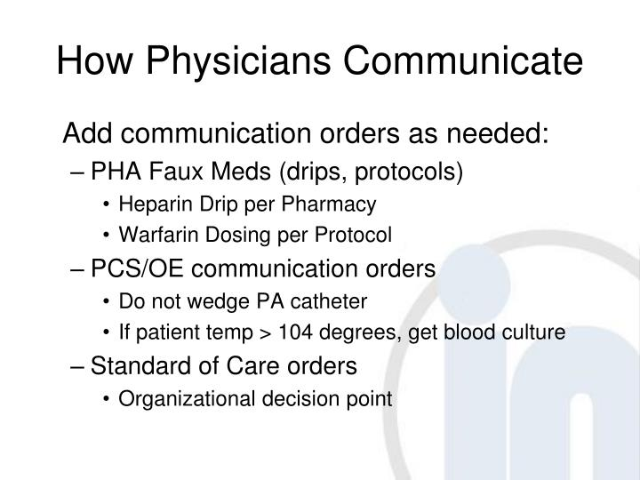 How Physicians Communicate