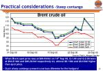 practical considerations steep contango