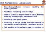 risk management advantages