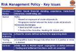 risk management policy key issues1