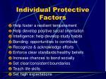 individual protective factors