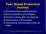 peer group protective factors