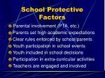 school protective factors