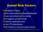 school risk factors