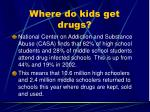 where do kids get drugs