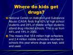 where do kids get drugs