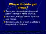 where do kids get drugs1