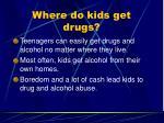 where do kids get drugs1