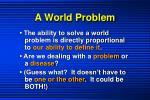 a world problem1