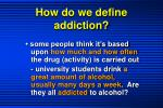 how do we define addiction1