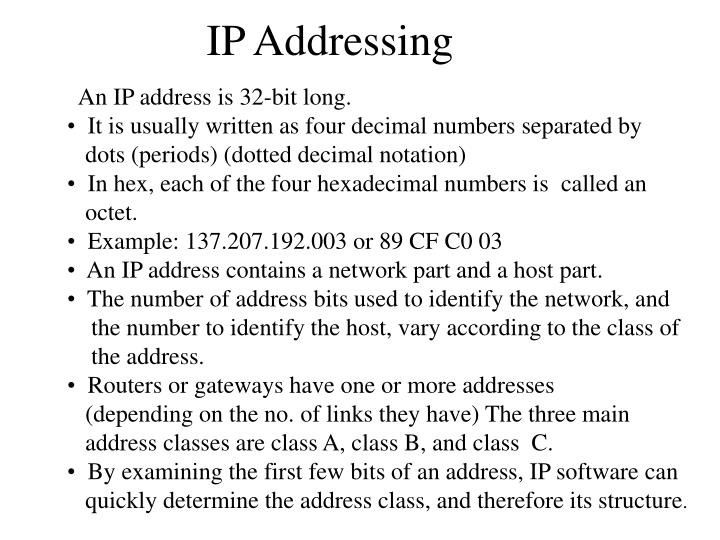 ip addressing n.