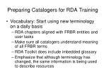preparing catalogers for rda training2
