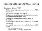 preparing catalogers for rda training3