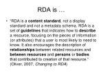rda is