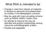 what rda is intended to be1