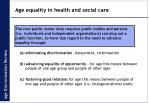 age equality in health and social care