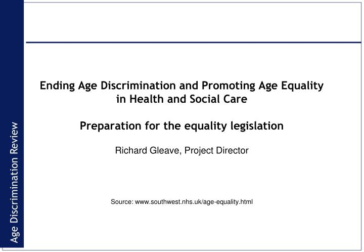 discrimination and social care