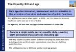 the equality bill and age