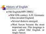 history of english2