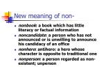 new meaning of non