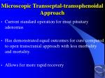 microscopic transseptal transsphenoidal approach