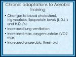 chronic adaptations to aerobic training2