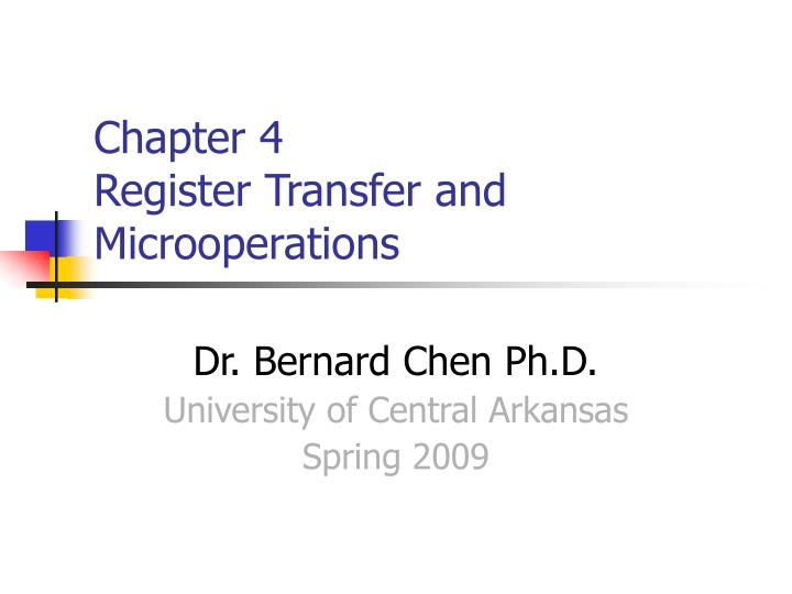chapter 4 register transfer and microoperations n.