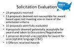 solicitation evaluation