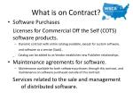 what is on contract