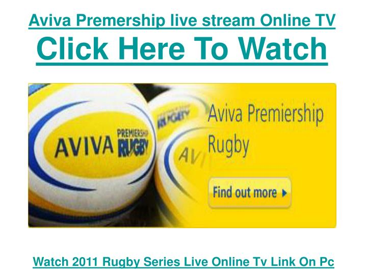 Aviva premership live stream online tv click here to watch